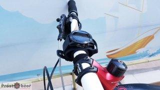 Вело фиксатор на руль для часов Garmin - вид сбоку