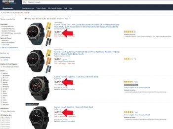 Цены на часы Garmin Fenix 5 - 5s - 5x