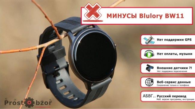 Минусы часов Blulory BW11