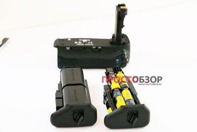2 типа питания и отсеки для бустера BG-E14 - аккумуляторы или батарейки