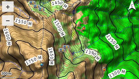Garmin Monterra - 3D топографическая карта - рельеф, высоты