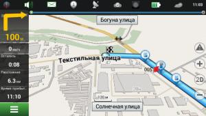 маршрут движения в IGO - отображение в GPS навигаторе Garmin Monterra