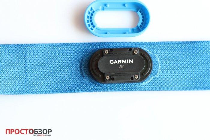 Открытая резионавая заглушка блока Garmin HRM Swim