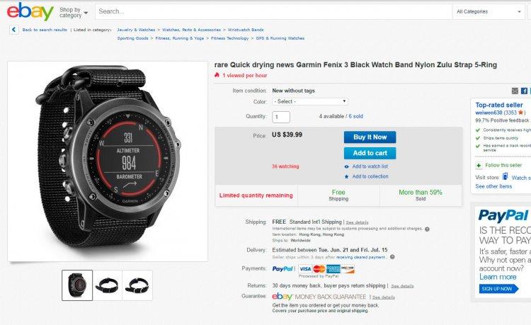 Нейлоновый тактичный ремешок NATO часов Garmin Fenix 3 на eBay