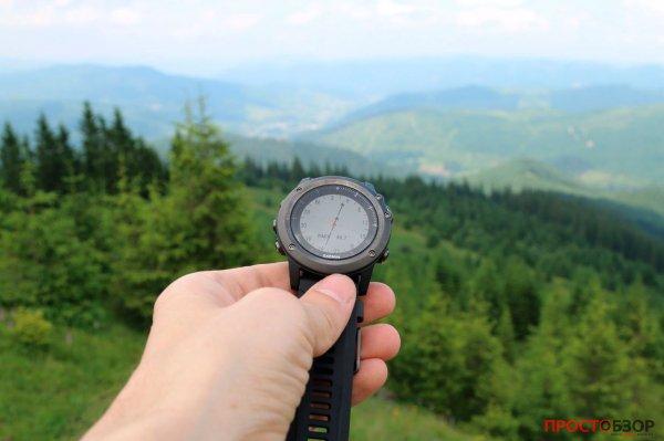 Курс через горы - в часах Garmin Fenix 3