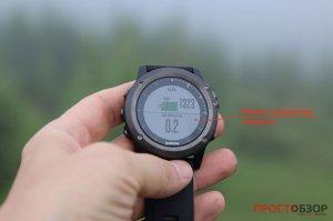 Маркер туристической навигации на маршруте в часах Garmin Fenix 3 HR
