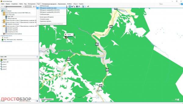 Импортированные маршруты в программе Garmin BaseCamp