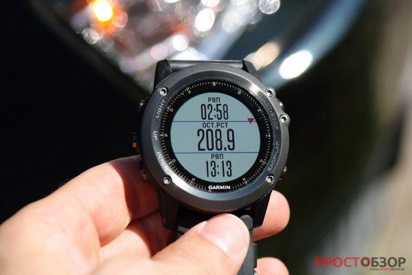 Авто-навигация в часах Garmin Fenix 3 HR