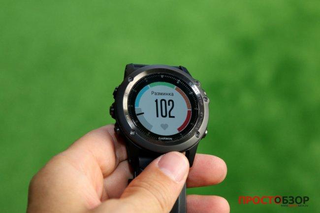 Поле частота пульса для пробежки в часах Garmin Fenix 3 HR после подключения пульсометра Garmin HRM-RUN