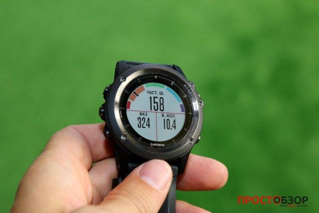 Поле частота шагов для пробежки в часах Garmin Fenix 3 HR после подключения пульсометра Garmin HRM-RUN