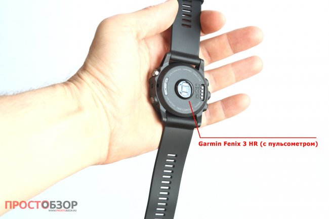 Датчик пульса в часах Garmin Fenix 3 HR