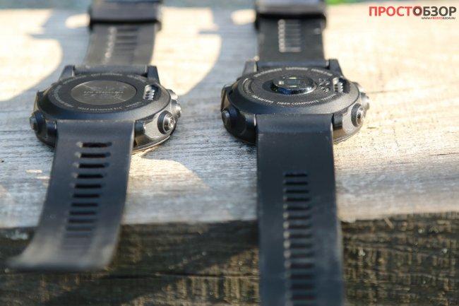 Сравнение крышек часов Garmin Fenix 3 и Fenix 3 HR