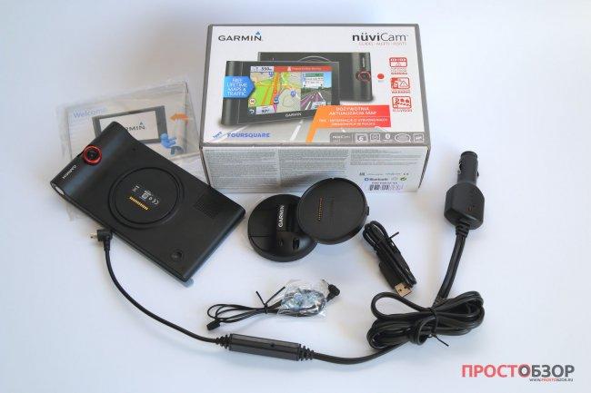 Комплектация Содержимого коробки GPS авто-регистратора Garmin NuviCam