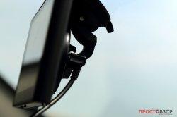 Подключение питания к держателю GPS авто-регистратора Garmin NuviCam