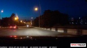 Скриншот ночной съемки GPS навигатором Garmin NuviCam