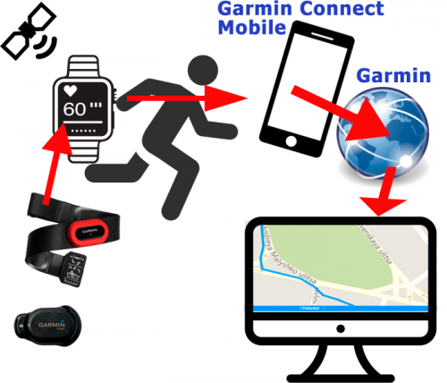 Как работает отслеживание треков Garmin Live Track
