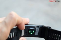 Датчик пульса HR на корпусе часов Garmin Vivoactive HR