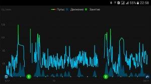 ваш пульс после синхронизации в Garmin Connect Mobile