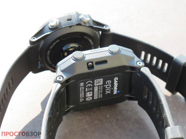 Кнопки Garmin Fenix 3 HR и Epix