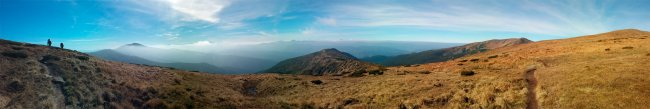 Панорама Карпат - горы