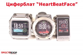 Garmin циферблат для часов Fenix 3 HR, Vivoactive HR, epox - heartbeatface