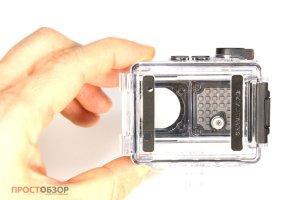 Пустой подводный бокс экшн-камеры Garmin Virb Utlra 30 - вид сзади