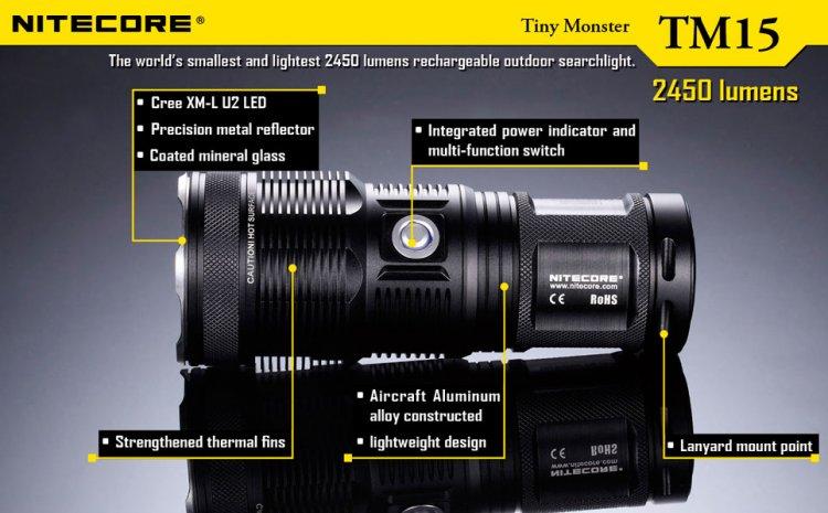 Схема фонарика Nitecore TM15 Tiny Monster