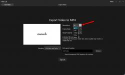 Настройки сохранения видео Virb Edit - разрешения