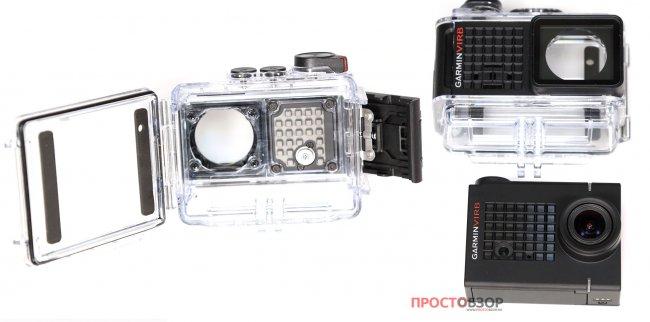 Крепление камеры Garmin Virb Ultra 30 в подводном боксе