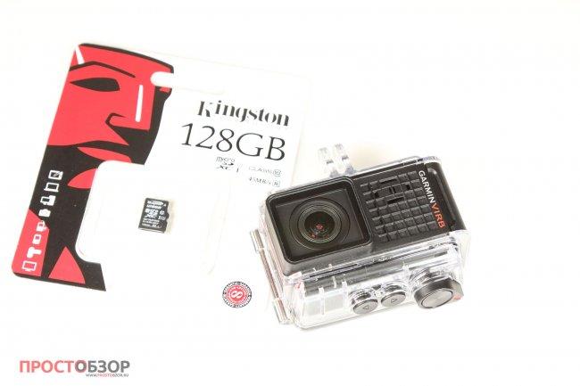 MicroSD карточка на 128 Гб для камеры Garmin Virb Ultra 30