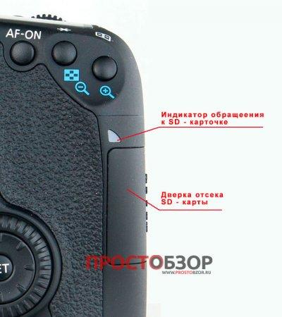 Лампа считывая SD карты и слот для установки