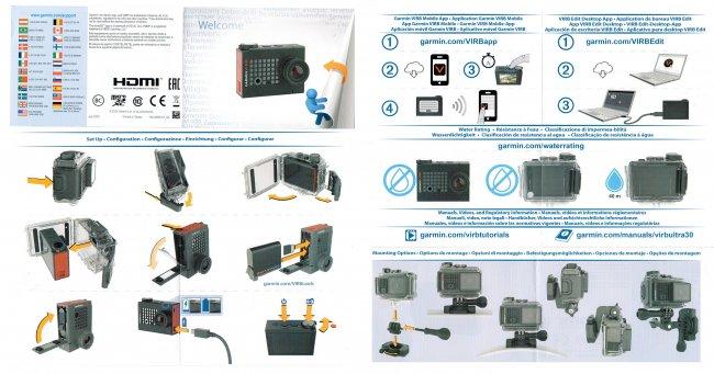 Графическая инструкция по эксплуатации камеры Garmin Virb Ultra 30