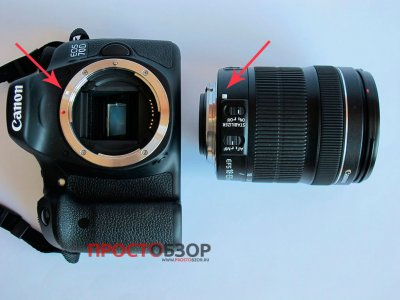 Корпус Canon EOS 70D и объектив отдельно