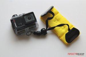 Вид сзади - Поплавок на руку для камеры Garmin Virb Ultra 30