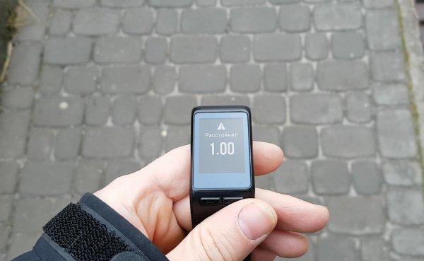 Оповещение про прохождение 1 км для часов Garmin Vivoactive HR