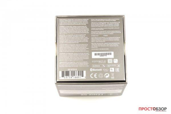 Нижняя сторона коробки часов Garmin Fenix 5X - распаковка