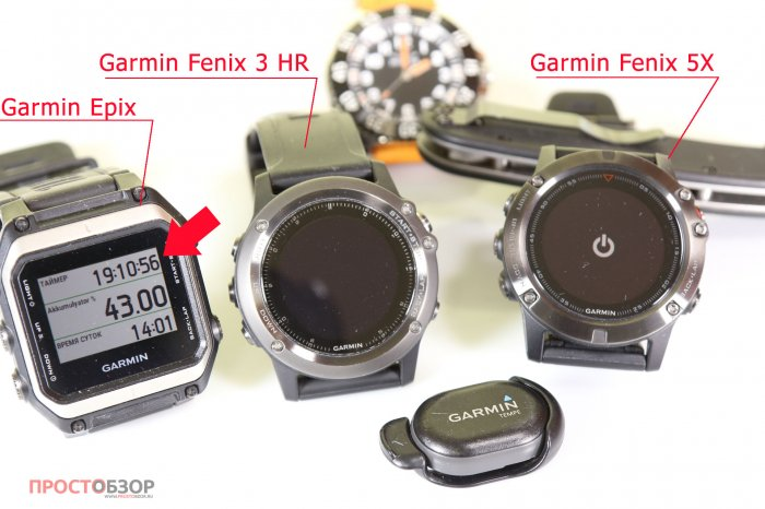 Окончание теста аккумулятора часов Garmin Fenix 5X, 3HR, Epix