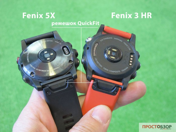Ремешок QuickFit 26 Watch Bands для часов Garmin Fenix 5 X  - 3 HR