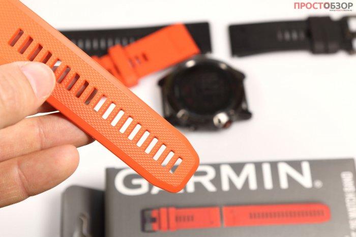 Силиконовый ремешок Garmin Flame Red Silicone для Fenix 5X - размер 26мм