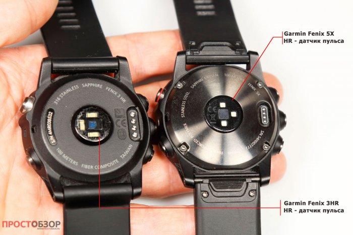 Оптические сенсоры часов Garmin Fenix 5X - Fenix 3 HR
