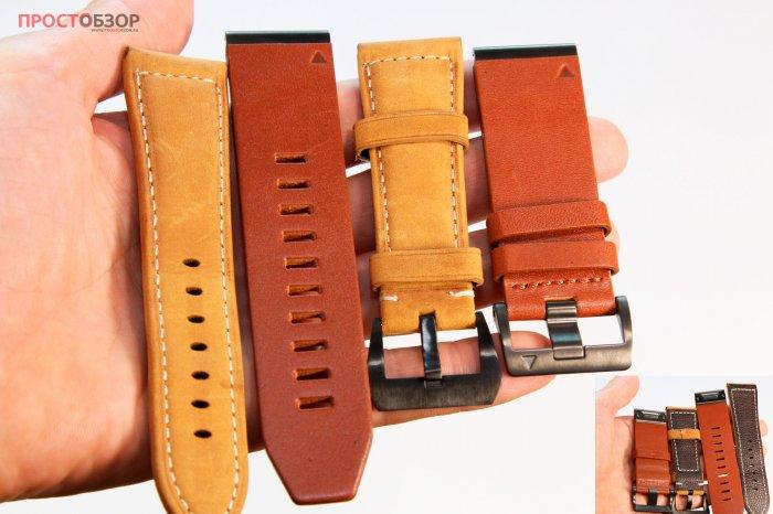 Сравнение кожаных ремешков Garmin QuickFit 26 Watch Bands