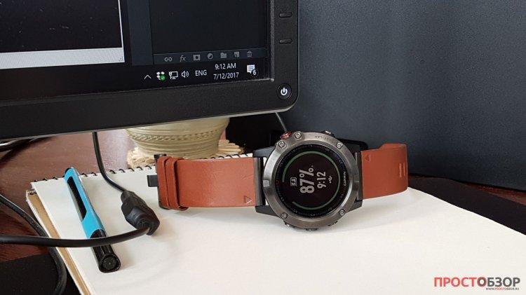Подключение часов Garmin Fenix 5X через USB