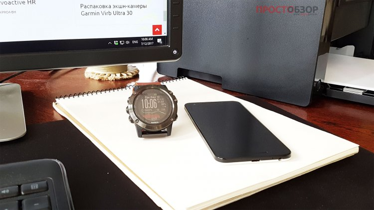 Синхронизация часов Garmin fenix 5x по Bluetooth