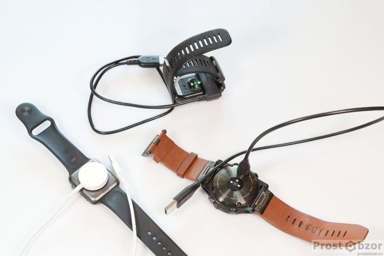 Зарядка часов Garmin Fenix 5X, Vivoactive HR, Apple Smart Watch Series 1