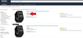 Цена на Garmin Vivoactive HR - Amazon