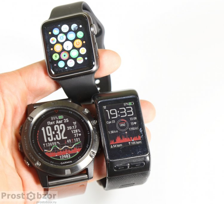 Дисплеи (экраны) Garmin Fenix 5X, Vivoactive HR, Apple Smart Watch Series 1