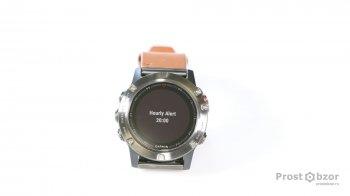 Ежечасное оповещение - опция в часах Garmin Fenix 5x