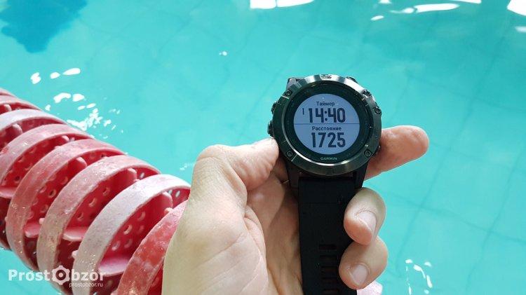 Кнопки часов Garmin Fenix 5X в воде