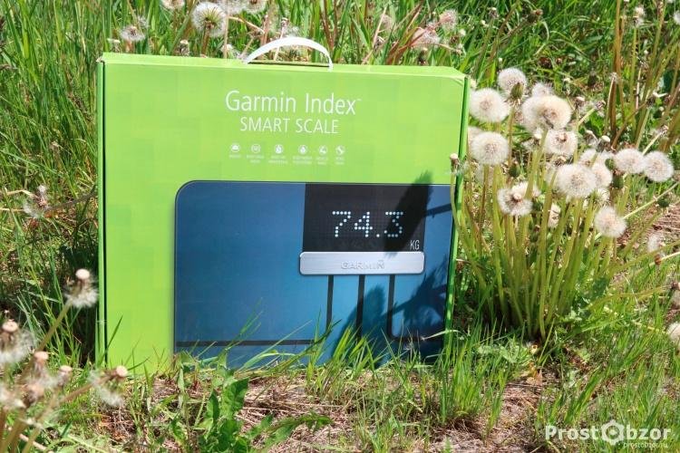 Внешний вид коробки весов Garmin Index Scale - вид спереди