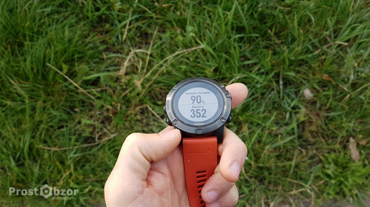 Уровень заряда аккумулятора - дата -поле в активности часов Garmin Index 5X